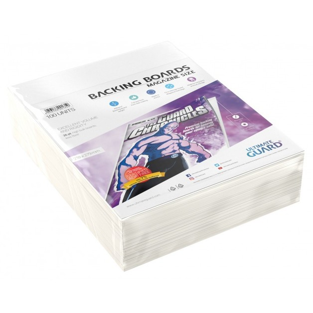 Ultimate Guard: Comic Backing Boards - Magazine (100-Pack)