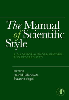 The Manual of Scientific Style