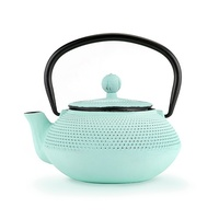 Pinky Up: Miko Cast Iron Teapot - Light Blue