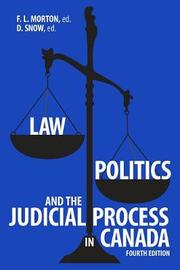 Law, Politics, and the Judicial Process in Canada, 4th Edition image