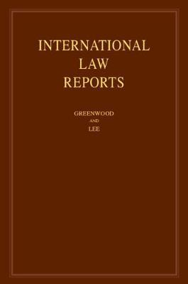 International Law Reports : Volume 177 image