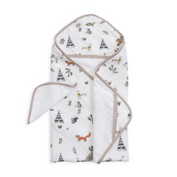 Little Unicorn - Hooded Towel & Wash Cloth - Forest Friends