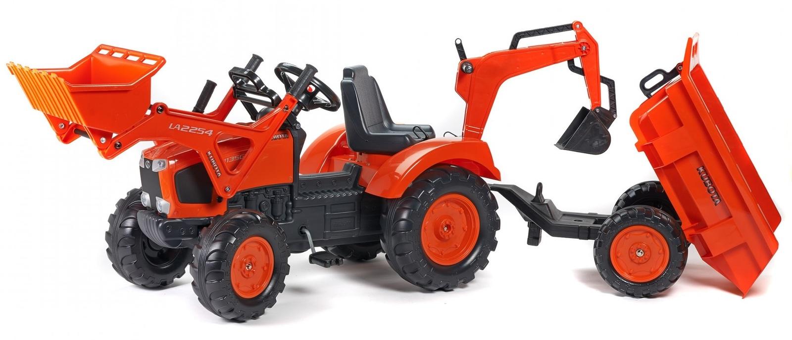 Falk: Kubota Pedal Tractor - Backhoe with Excavator image