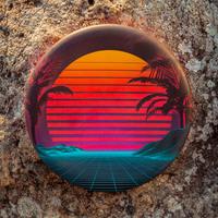 Waboba: Wingman Foldable Frisbee - Sunset