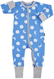 Bonds Zip Wondersuit Long Sleeve - Solar Moon / Liberty Blue (New Born)