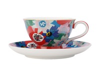 Maxwell & Williams: Teas & C's Glastonbury Footed Cup & Saucer - Passion Vine Blue (200ml)