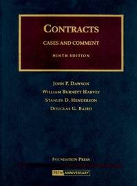Contracts: Cases and Comment by John P Dawson image