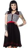 Sourpuss: Tattoo Roses Line Dance Dress (Large)