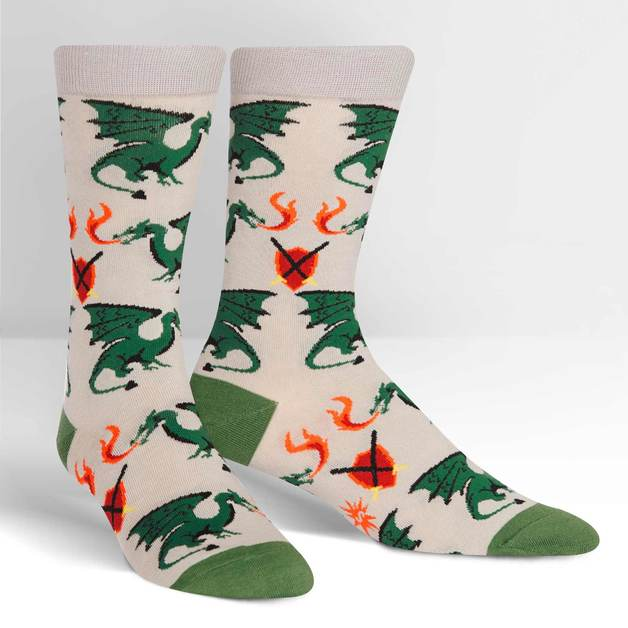 f86044c90 SOCK it to Me: Mens Crew Socks - Beware of Dragons | Men's | at Mighty Ape  NZ
