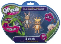 QPeas: Posable Mini Dolls - 3-Pack (Fraya & Tilley)