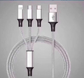 3-in-1 Charging Cable - Grey (1.2m)