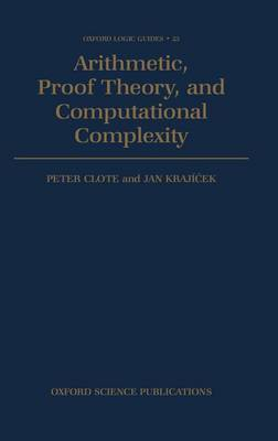 Arithmetic, Proof Theory, and Computational Complexity image