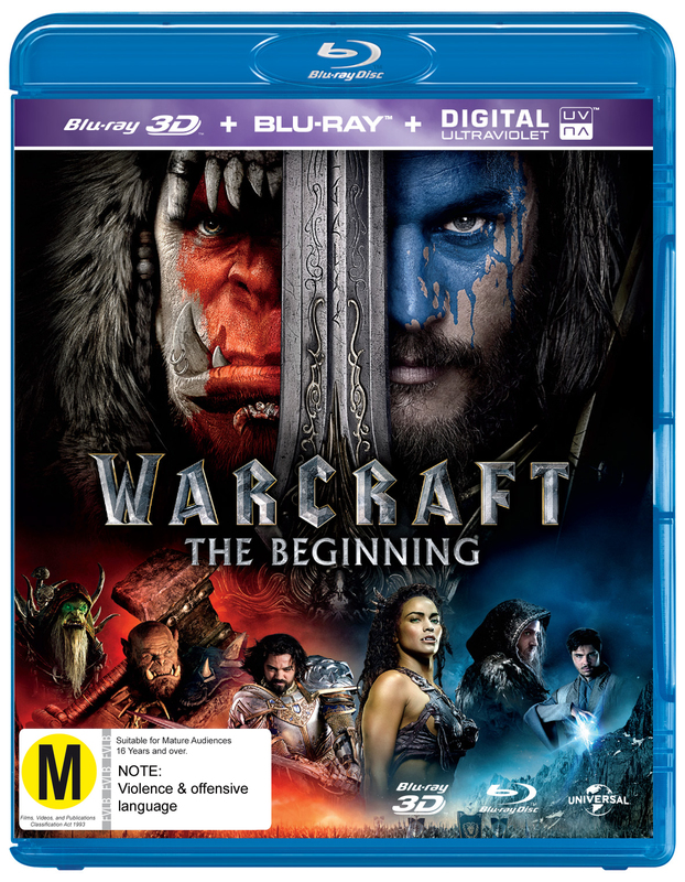 Warcraft: The Beginning on Blu-ray, 3D Blu-ray