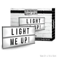Cinematic Lightbox With Letters