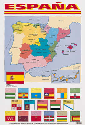 Spanish Poster - Map of Spain image