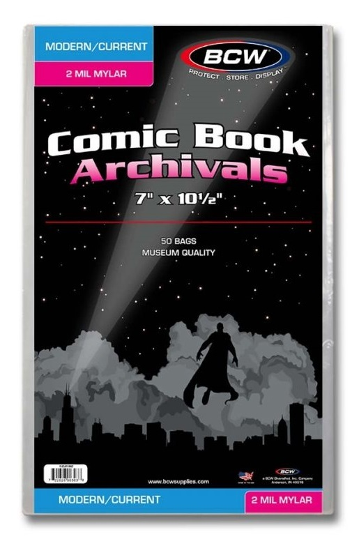 BCW: Comic Book - 2-mil Mylar Archivals (Current/Modern)