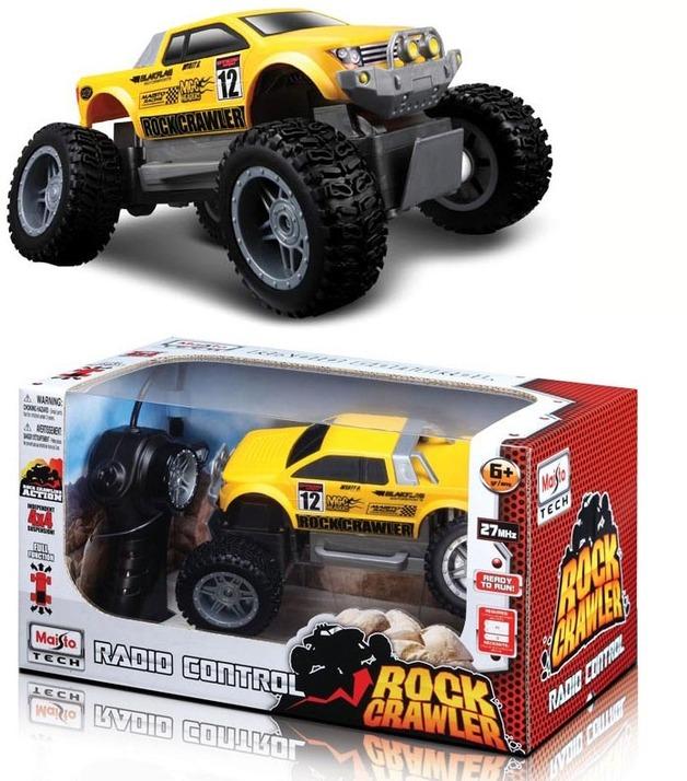 Maisto Rock Crawler Junior 4WD R/C Vehicle - Yellow