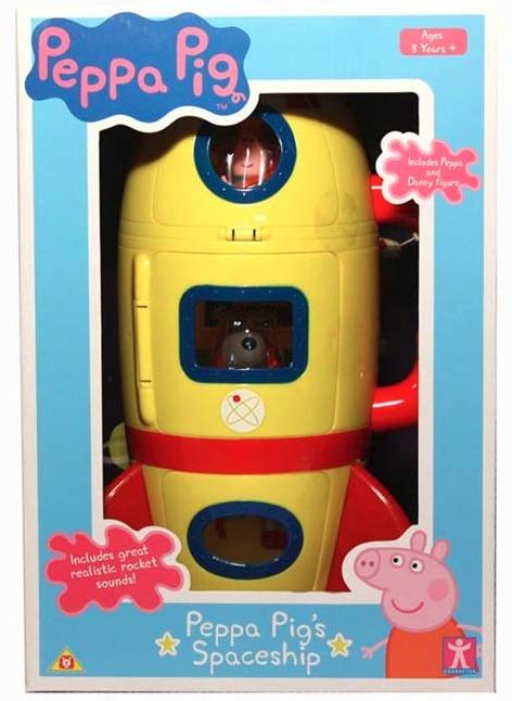 Peppa Pig Yellow Spaceship Explorer Set Toy At