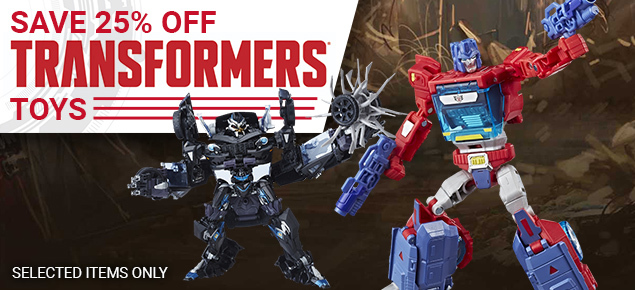 25% off Transformers!