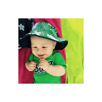 Banz Carewear: Reversible Sunhat - Tropical Forest/Navy (Under 2 years)
