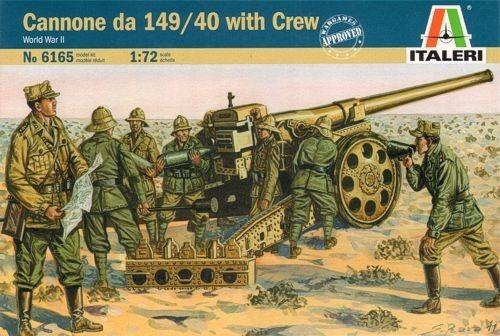 Italeri Italian Cannon 149-40 with Crew 1:72 Model Kit