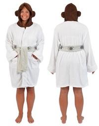 Star Wars: Princess Leia - Hooded Fleece Bathrobe