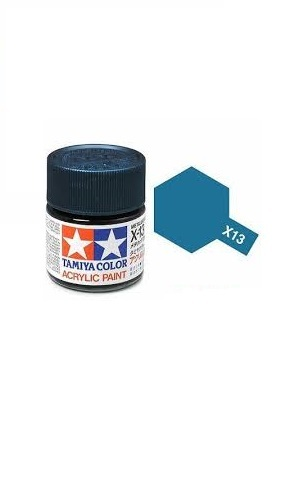 Tamiya Acrylic: Metallic Blue (X13)