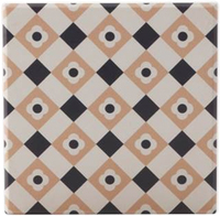 Maxwell & Williams Medina Ceramic Square Tile Coaster - Zagora (9cm)