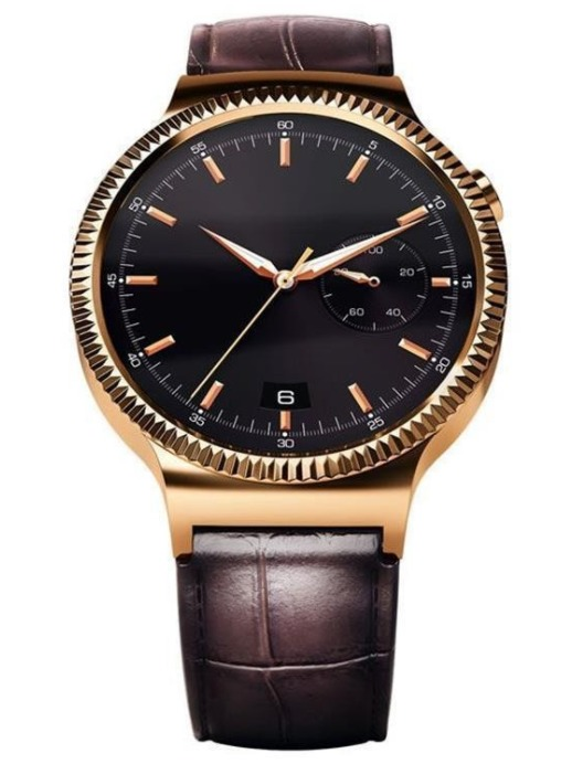 Huawei: Watch Elite Gold - Stainless Steel with Brown Leather StraP image