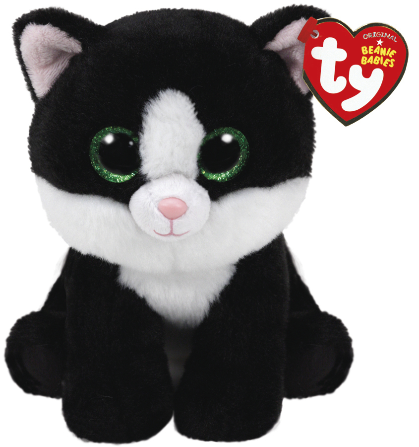 Ty Beanie Babies: Ava Cat (Black/White) - Small Plush image