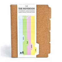 Suck UK: Tab Notebook (Set of 4)