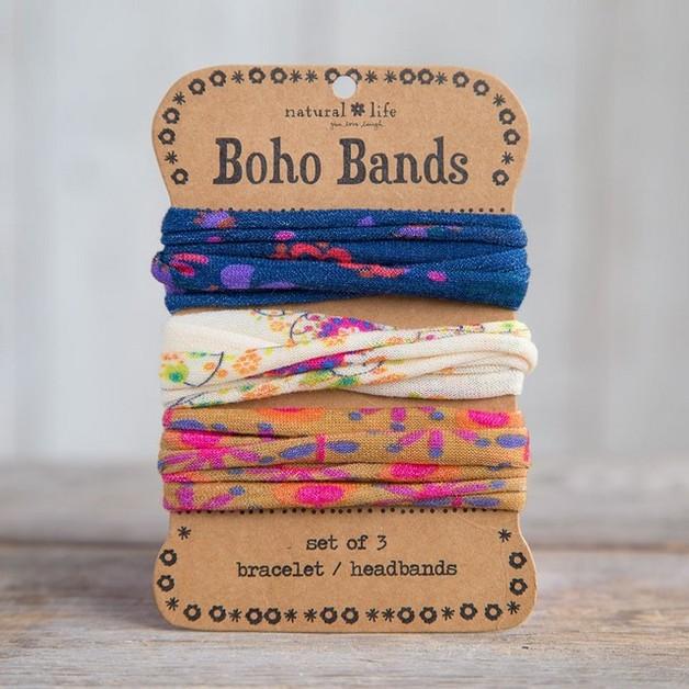 Natural Life: Boho Bands - Navy/Cream/Gold (3 Pack)
