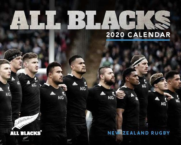 All Blacks 2020 Desk Easel - Double View Calendar