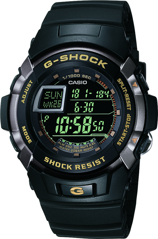 Casio G-Shock Digital Mens Black Watch G7710-1D G-7710-1HDR