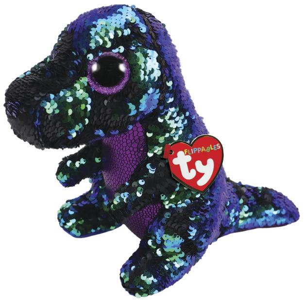 TY Beanie Boo: Flip Crunch Dinosaur - Medium Plush
