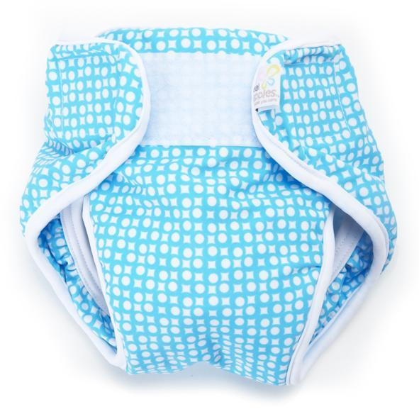 Real Nappies Splash Wrap Blue - Medium (6-9kg)