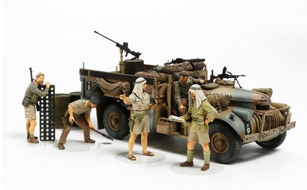 Tamiya 1:35 LRDG Command Car with 6 Figures