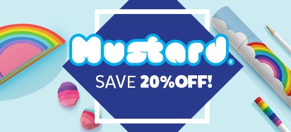 20% off Mustard Stationery