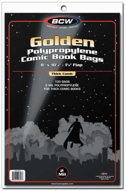 """BCW: Comic Book Bags - Golden/Thick (8"""" x 10.5"""") image"""