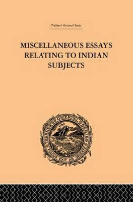 Miscellaneous Essays Relating to Indian Subjects by Brian Houghton Hodgson image
