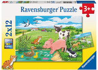 Ravensburger - Baby Farm Animals Puzzle (2x12pc)
