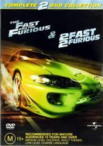 Fast And The Furious / 2 Fast 2 Furious - 2 DVD Movie Pack (2 Disc Set) on DVD