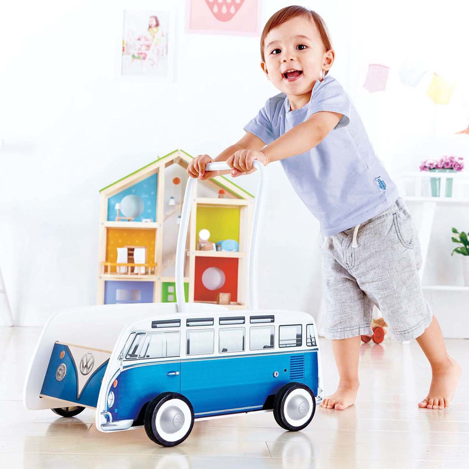 Hape: VW Combi Van Walker (Blue) image