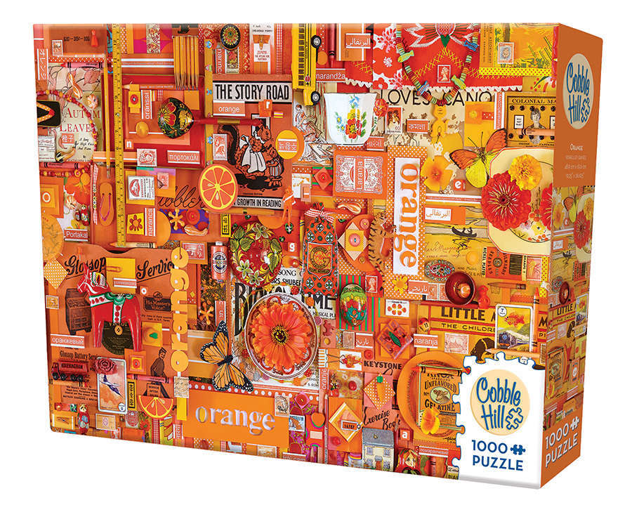 Cobble Hill: The Rainbow Project (Orange) - 1000pc Puzzle image