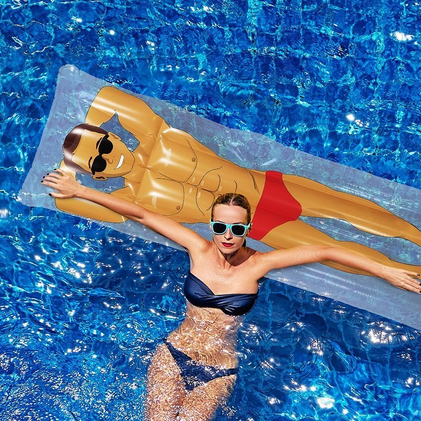 Pop Fix Inflatable Pool Hunk Float image