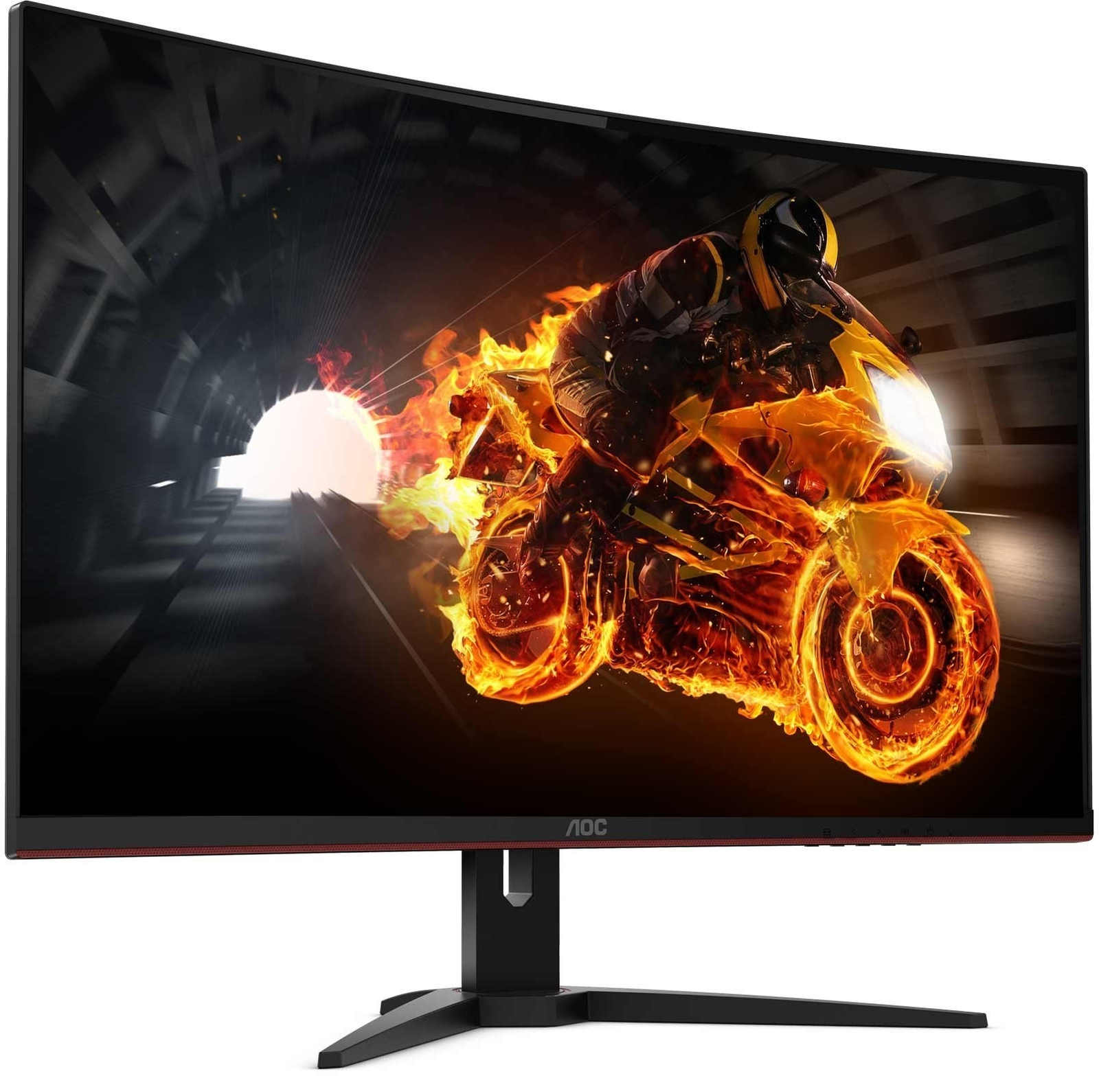 """31.5"""" AOC 2560x1440 144Hz 1ms FreeSync Curved Gaming Monitor image"""