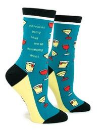 Anne Taintor: Demanding Drinks - Ladies Crew Socks