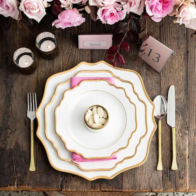 Floraison: Porcelain Dessert Plate - White