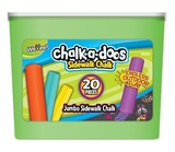 Chalk-a-Doos: Jumbo Sidewalk Chalk Sticks - 20 Piece