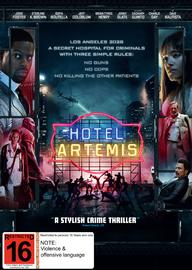Hotel Artemis on DVD